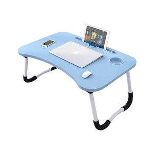 Golden Wheat Foldable Laptop Table 40x60x28cm Blue