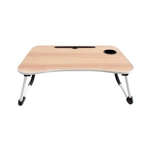 Golden Wheat Foldable Laptop Table 40x60x28cm Beech