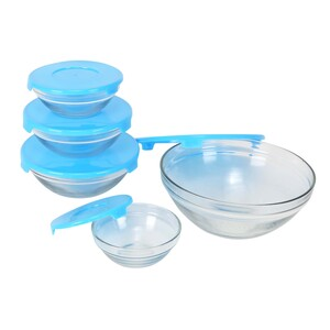 Home Glass Bowl With 5pcs Set S001