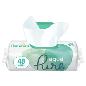 Pampers Aqua Pure Baby Wipes 48pcs