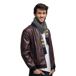 Eten Men's PU Jacket Bordeaux Red PDL05