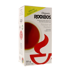 Organic Rooibos Nectar of Nature Lemon Flavour Tea Bags 20pcs