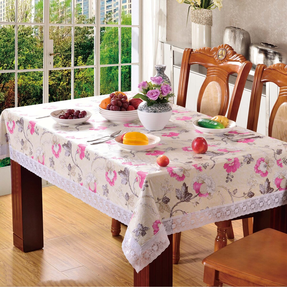- Maple Leaf Table Cloth Printed Size: W152 x L228cm Assorted Colors & Designs