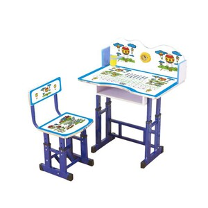 Maple Leaf Study Table & Chair KT066 Blue Assorted Colors & Designs