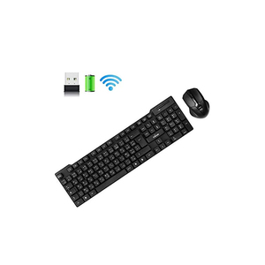 Trands 2.4G Wireless Keyboard and Mouse Combo Chocolate key Ergonomic design KB110