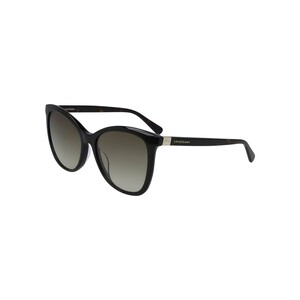 Longchamp Women's Sunglass 648S55 Modified Rectangle Black Havana
