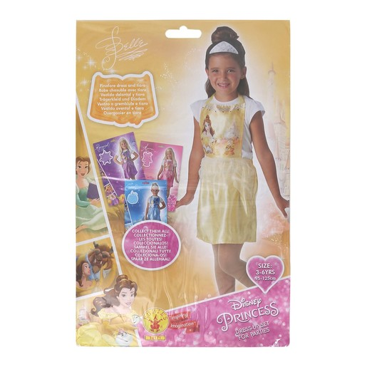 Disney Belle Party Costume (Pinafore & Tiara) 620975 Size 3-6Y
