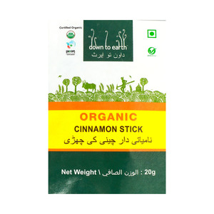 Down To Earth Organic Cinnamon Stick 20g