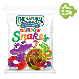 The Natural Confectionary Co. Rainbow Snakes Jelly Candy 220g