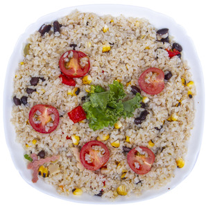 Fresh Grilled Corn Salad With Brown Rice 400g Approx. Weight