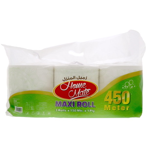 Home Mate Maxi Roll 1ply 150mtr x 3pcs