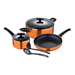 Bergner Cookware Set Marble With Induction Bootom 7pcs BG31313
