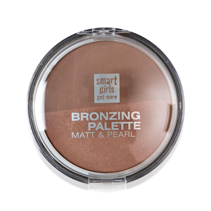 Smart Girls Get More Bronzing Powder Duo For Face And Body 01 Warm Bronze 1pc