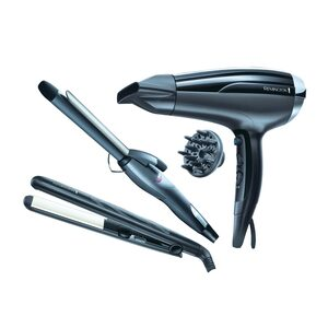 Remington Hair Dryer D5215 + Straightener + Curler