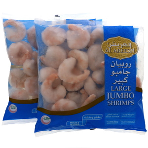 Al Areesh Frozen Shrimps Large Jumbo 2 x 800g