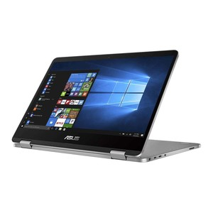 Asus Vivobook Flip 14 TP401MA-EC123TS 2-in-1 Laptop, Celeron N4000 , 4 GB RAM, 64Gb eMMc, Intel UHD Shared, 14 Inches Touch LED, Windows 10 S, Lite Grey