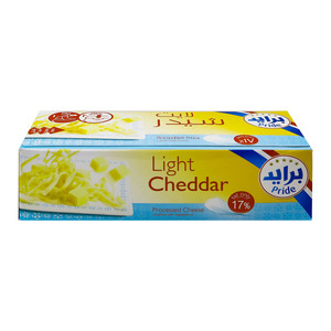 Pride Light Cheddar Processed Cheese 1kg