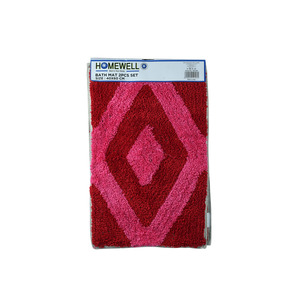 Homewell Bath Mat  40x60c 2Pc SHY02 Assorted Colors
