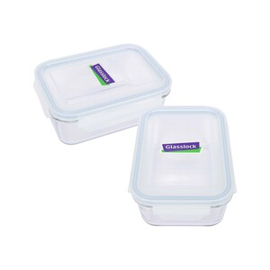 Glass Lock Rectangle Glass Container Set 710ml 1561 2pcs