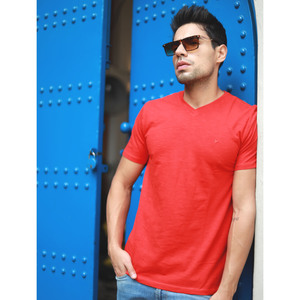 Eten Men's Basic Tees V-Neck S/S 20 Molten Lava