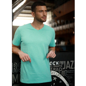 Eten Men's Basic Tees V-Neck S/S 20 Aqua Sky