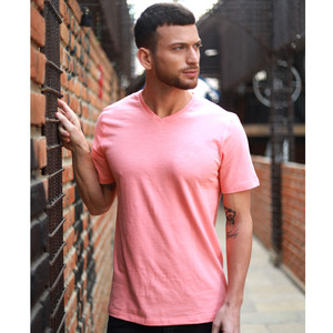 Eten Men's Basic Tees V-Neck S/S 20 Peach Pink