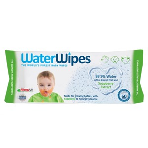 Water Wipes Soapberry Extract Baby Wipes 60pcs