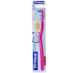 Trisa Fresh Super Clean Toothbrush Hard Assorted 1pc