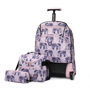 Wagon R Classy 2Wheel School Trolley+Lunch Bag+Pencil Case BT1818 20inch