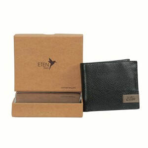Eten Men's Leathere Wallet ETCWL-1 Black