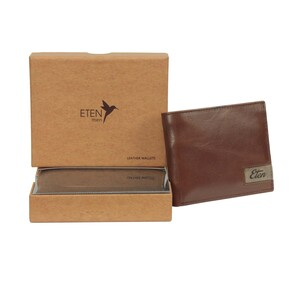 Eten Men's Leathere Wallet ETCWL-2 Tan
