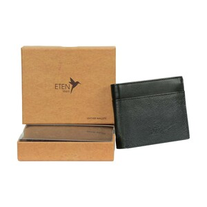 Eten Men's Leathere Wallet ETCWL-3 Black