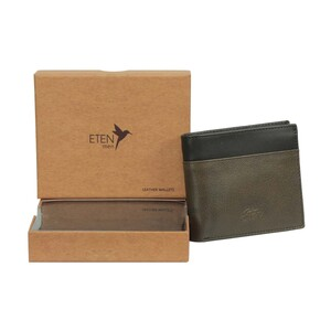 Eten Men's Leathere Wallet ETCWL-4 Brown