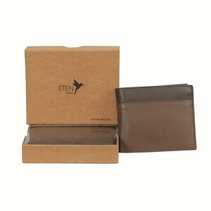 Eten Men's Leathere Wallet ETCWL-5 Tan