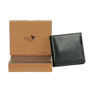 Eten Men's Leathere Wallet ETCWL-6 Black