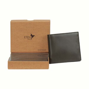 Eten Men's Leathere Wallet ETCWL-7 Brown