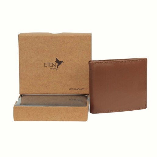 Eten Men's Leathere Wallet ETCWL-8 Tan