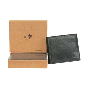 Eten Men's Leathere Wallet ETCWL-9 Black