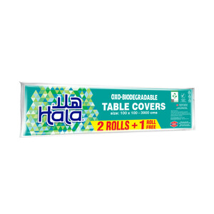 Hala Table Covers Oxo-Biodegradable Size 100 x 100-3900cm 13pcs 2+1