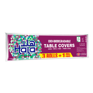 Hala Table Covers Oxo-Biodegradable Size 100 x 100-7600cm 19pcs 3+1