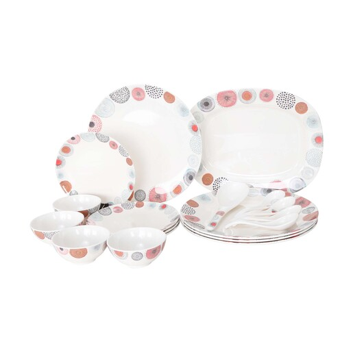 Lulu Dinner Set 18pcs ETHNIC WHEELS