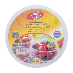 Home Mate Microwave Round Container With Lid 6pcs
