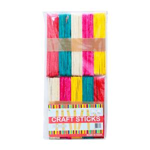 Win Plus Color Craft Sticks EX94 100's Assorted Color