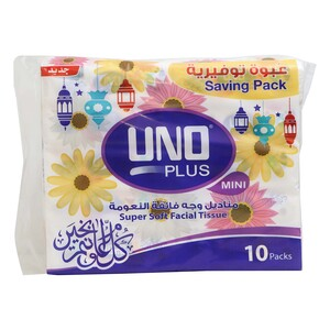 Uno Facial Tissue 2ply x 180 Sheets 10pcs