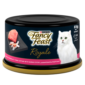 Fancy Feast Royale White Meat Tuna Affair With Surimi Sticks 85g