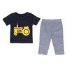 Eten Infant's Boys Pyjama Set Short Sleeve Navy 18M