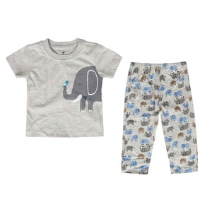 Eten Infant's Boys Pyjama Set Short Sleeve Grey