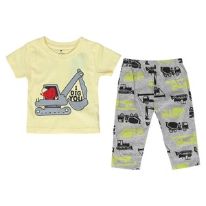 Eten Infant's Boys Pyjama Set Short Sleeve Light Yellow