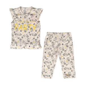 Eten Infant Girls Pyjama Set Short Sleeve Grey