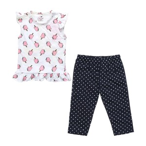 Eten Infant Girls Pyjama Set Short Sleeve White